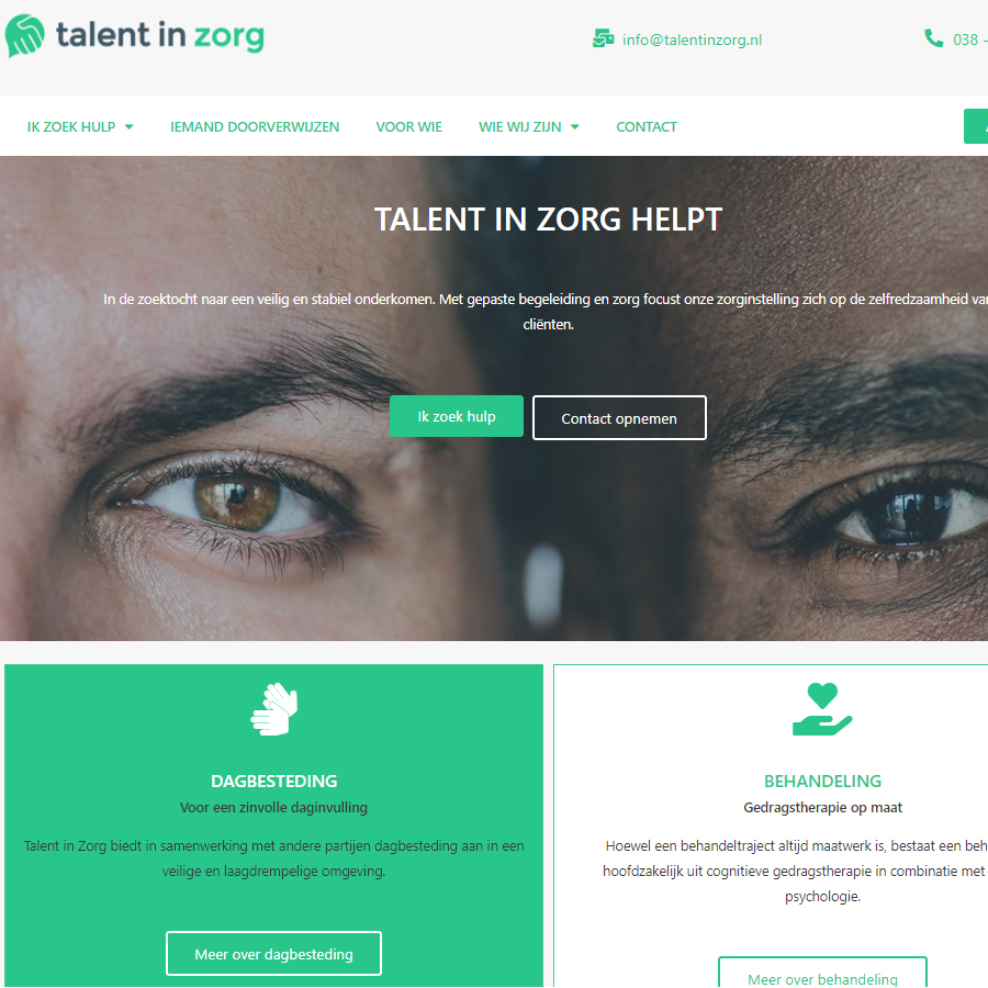talentinzorg website